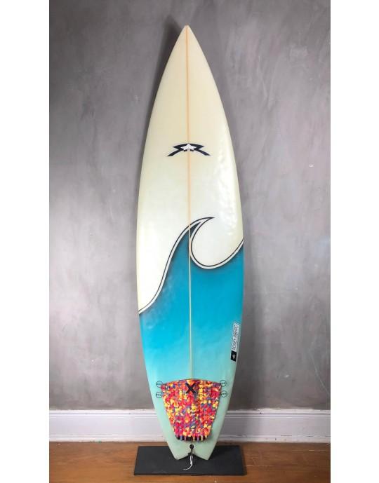 "Prancha de Surf Roney Ribeiro 6'4"" Azul Seminova"