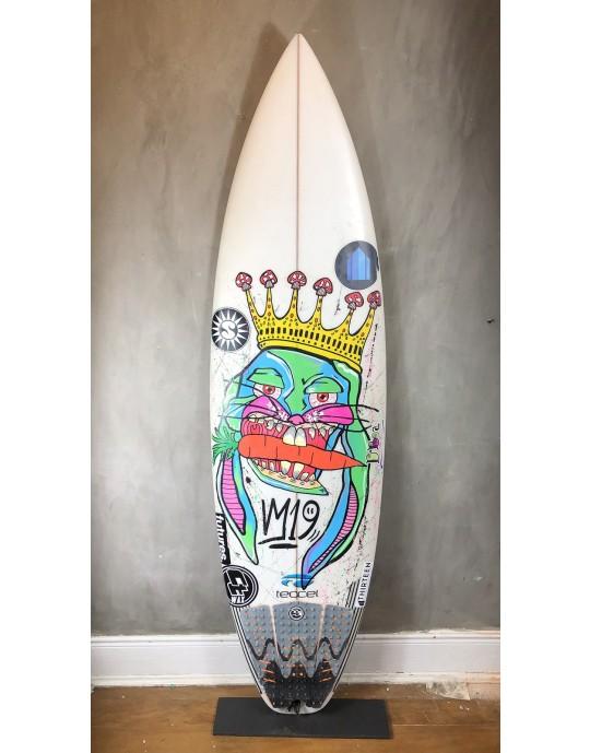 """Prancha de Surf Shine 6'0"""" Branca Seminova"""
