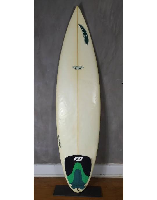 "Prancha de Surf Tropical Brasil 6'1"" Branca Seminova"
