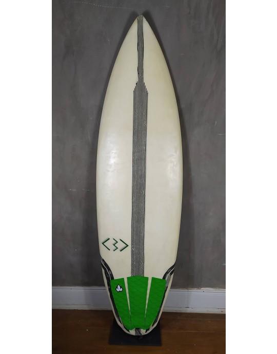"Prancha de Surf Verde 5'10"" Seminova"