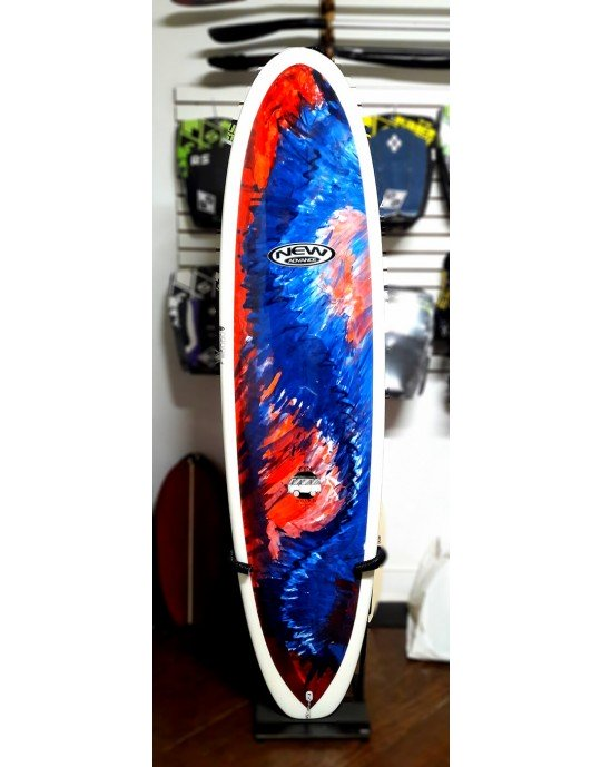 "Prancha de Surf Funboard New Advance 7'4"" EPS + Epoxi Colorida 