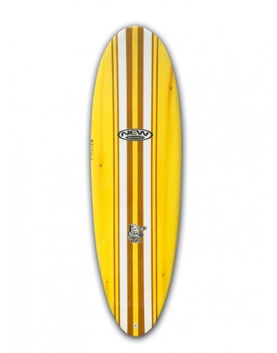 "Prancha de Surf Mini Tunk New Advance 6'6"" Amarela EPS + Epoxi"
