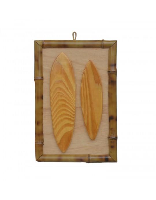 Quadro de Surf Bambu 2 Pranchas - Prancharia