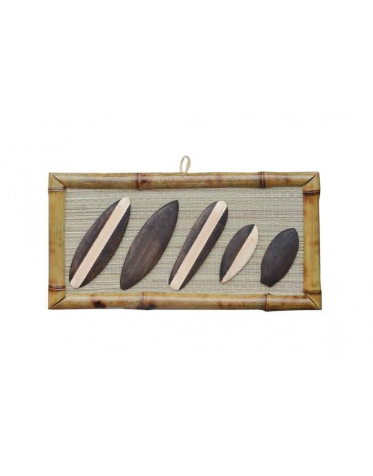 Quadro Decorativo Bambu Pranchas de Surf | Prancharia