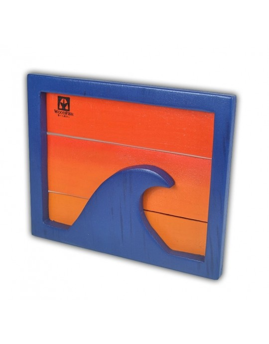 Quadro Decorativo Onda Azul | Prancharia
