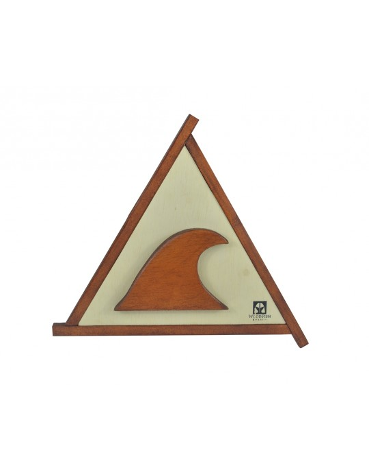 Quadro Decorativo Triangular Onda Surf | Prancharia