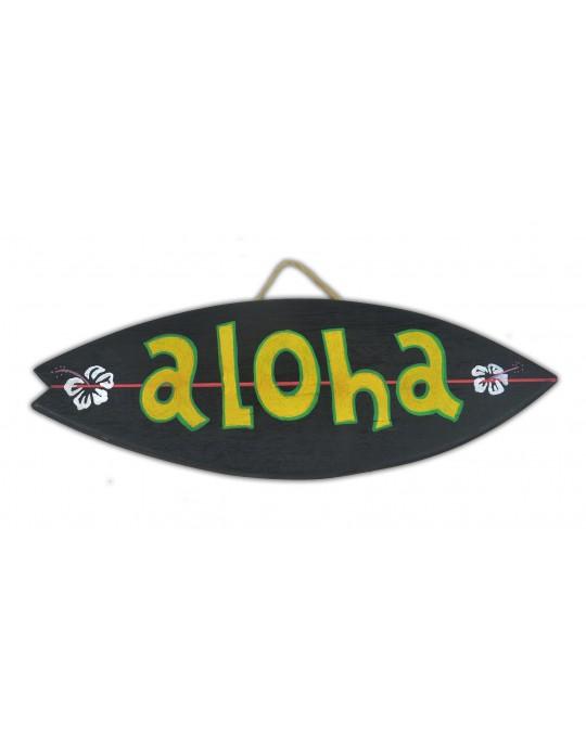 Pranchinha Decorativa Aloha Preto   Prancharia