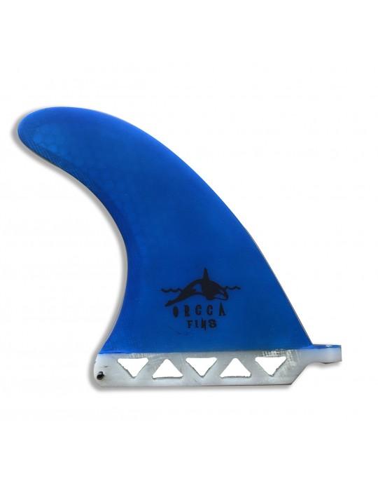 "Quilha central Fibra de Vidro 7"" Orca Fins Azul"