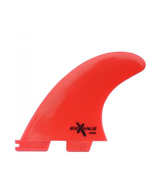 Quilhas Encaixe FCS2 Expans Pequena Vermelha Fluor