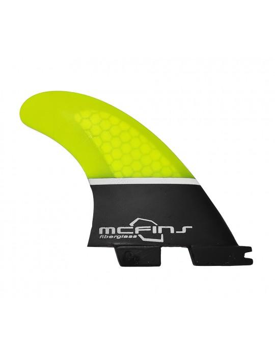 Quilhas Fibra de Vidro McFins FCS2 Black Trunck - Media | Prancharia