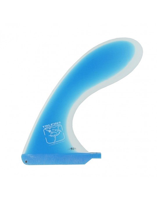 Quilha Central Longboard ou Stand up Fibra || - Azul e Branco - 9,5'' Tri-Fins || | Prancharia