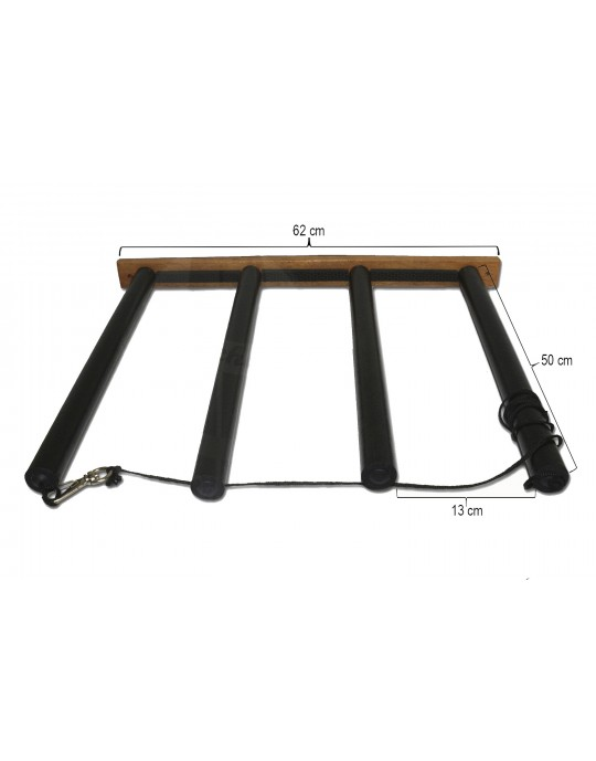 Rack Para 3 Pranchas de Stand Up Paddle - Vertical - Madeira | Prancharia
