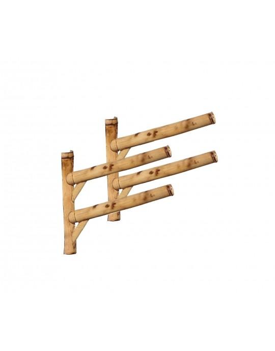 Rack Para 2 Prancha de Surf 45º - Horizontal - Bambu | Prancharia