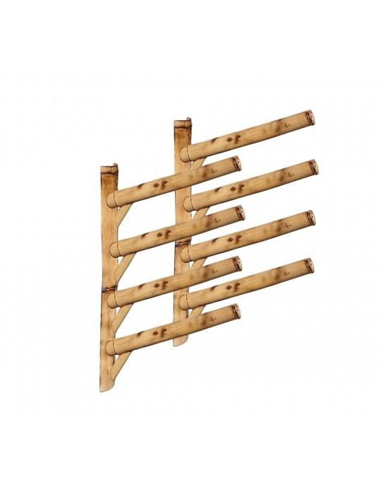 Rack Para 4 Pranchas de Surf 45º - Horizontal - Bambu | Prancharia