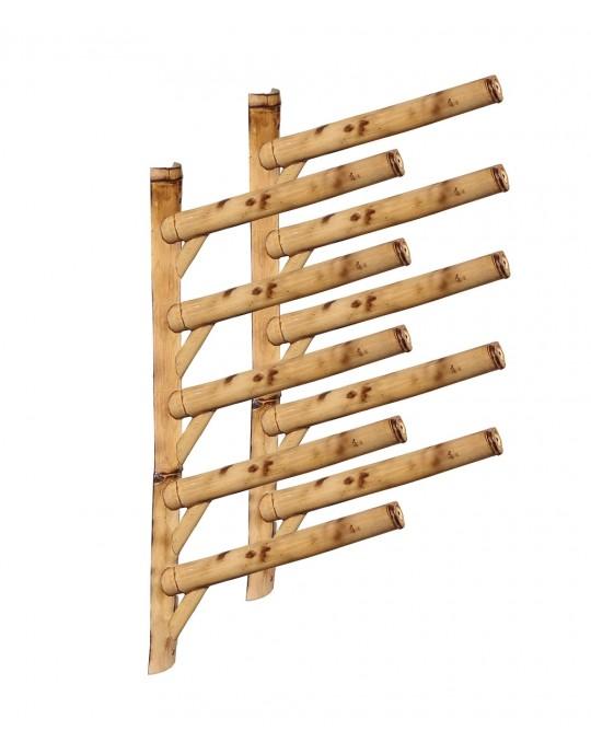 Rack Para 5 Pranchas de Surf 45º - Horizontal - Totalmente em Bambu | Prancharia