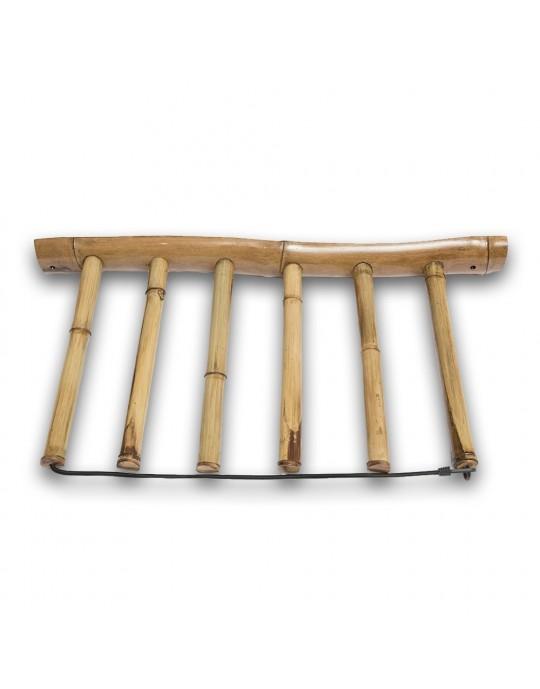 Rack Para 5 Pranchas de Surf - Vertical - Totalmente em Bambu | Prancharia