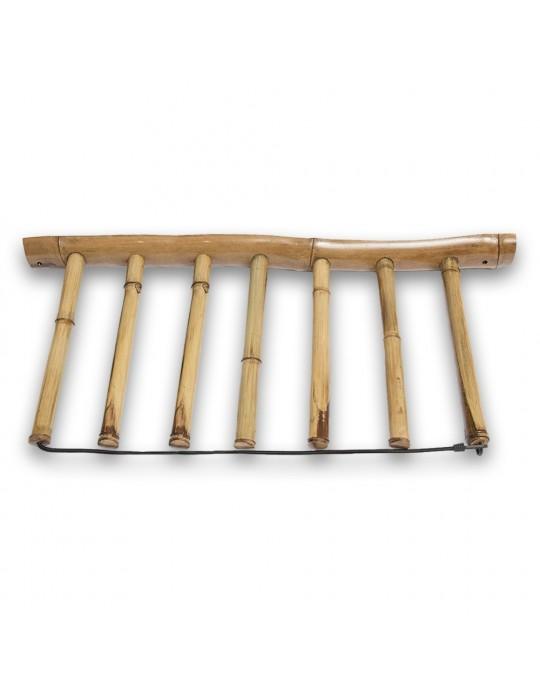 Rack Para 6 Pranchas de Surf - Vertical - Totalmente em Bambu | Prancharia