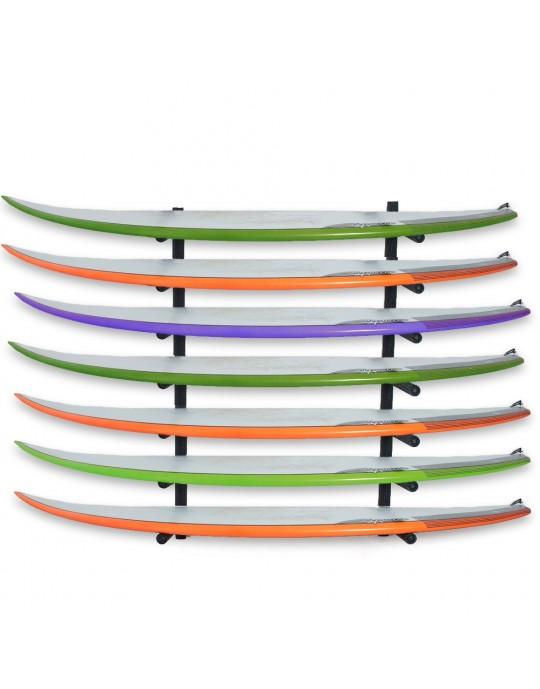 Rack Para 7 Pranchas de Surf - Horizontal | Prancharia