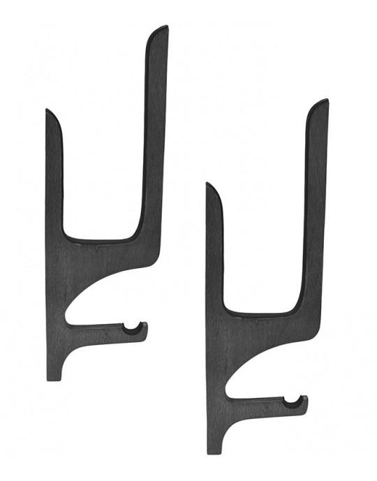 Rack de Madeira Stand up paddle - tipo quadro com apoio de remo - Preto - Prancharia