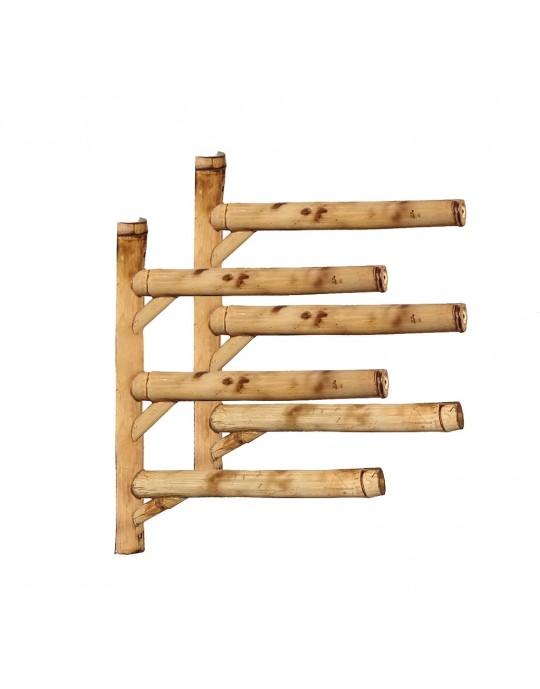 Rack Para 3 Pranchas de Surf - Horizontal - Totalmente em Bambu | Prancharia