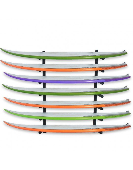Rack Para 7 Pranchas de Surf - Horizontal   Prancharia
