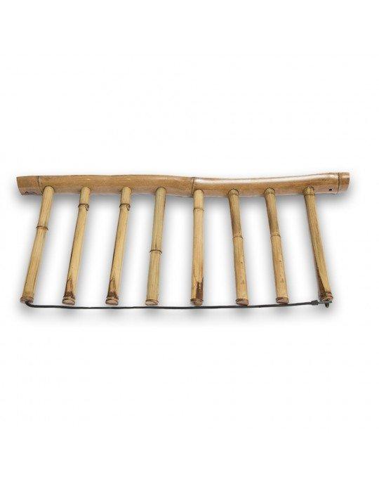Rack Para 7 Pranchas de Surf - Vertical - Totalmente em Bambu | Prancharia