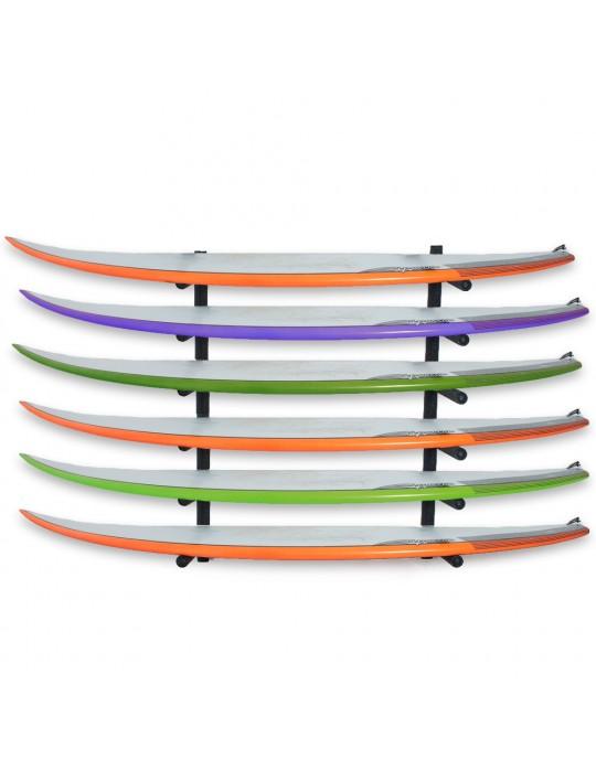 Rack Para 6 Pranchas de Surf - Horizontal   Prancharia
