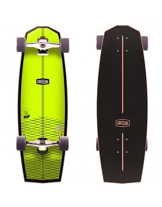 Skate Simulador de Surf Surfeeling MR POP Amarelo Neon