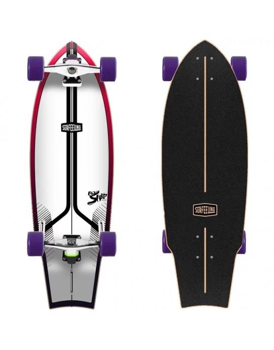 Skate Simulador de Surf Surfeeling Snap New Vermelho