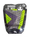 Deck Surf Banana Wax Thermo-Fresado Verde com Roxo 3 Partes