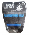Deck Surf Banana Wax Thermo-Fresado Azul e Preto 3 Partes