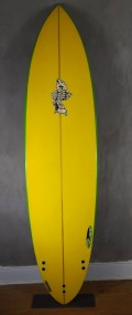 "Prancha de Surf Gun Zampol 7'4"" Seminova"