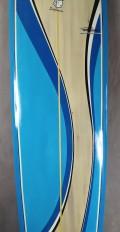 "Longboard Wave Toys 9'0"" Madeira/Azul"