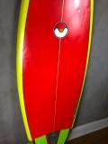 "Prancha de Surf Fish Morse 5'10"" Vermelha Seminova"