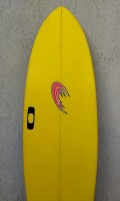 """Prancha de Surf Funboard Storm Rider 7'1"""" Amarela Seminova"""