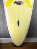 """Prancha de Surf Mini Long New Advance 6'8"""" Cinza/Amarelo EPS + Epoxi"""