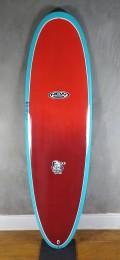"Prancha de Surf Mini Tank New Advance 6'6"" Azul com Vermelho EPS + Epoxi"