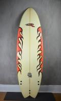 "Prancha de Surf Rip Wave Fish 5'10"" Seminova"