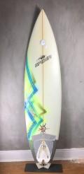 """Prancha de Surf Spider 6'6"""" Branca Seminova"""