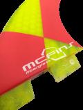 Quilha MCfins Fibra de Vidro FCS2 Amarela e Vermelha