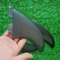 Quilhas FCS 2 Fibra de Vidro com Fibra de Carbono Small Preta