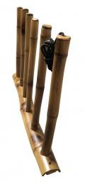 Rack Para 3 Pranchas de Surf - Vertical - Totalmente em Bambu   Prancharia