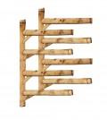 Rack Para 4 Pranchas de Surf - Horizontal - Totalmente em Bambu | Prancharia