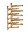 Rack Para 5 Pranchas de Surf - Horizontal - Totalmente em Bambu | Prancharia