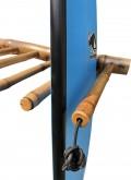 Rack Para 5 Pranchas de Surf - Vertical - Totalmente em Bambu   Prancharia