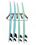 Rack Para 4 Pranchas de Surf - Vertical - Madeira   Prancharia