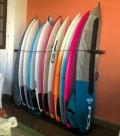 Rack Para 2 Pranchas de Surf - Vertical - Madeira | Prancharia