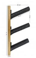 Suporte Para 3 Skates ou Skates Longboard - Horizontal 45º