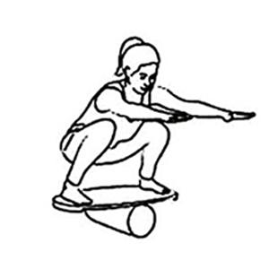 Agachamento balance board